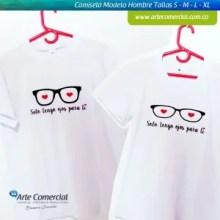 Camiseta Pareja Solo Tengo Ojos para Ti_logo