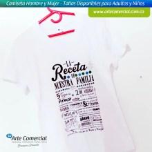 Camiseta Receta de Nuesta Familia_logo