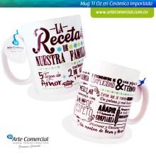 Mug La Receta de Nuestra Familia Verde_logo