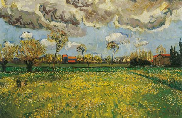 ArteCompacto: Paisaje bajo un cielo que anuncia tormenta