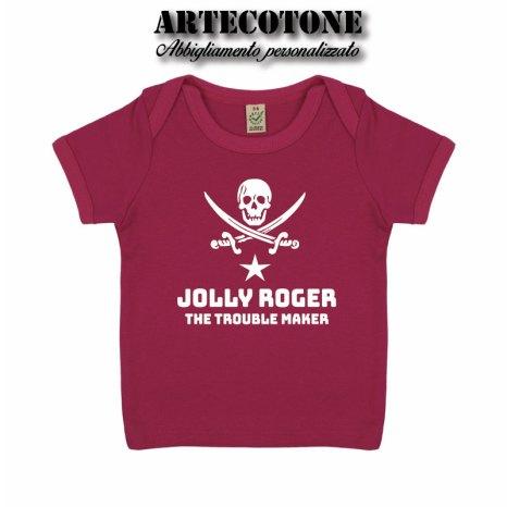 T-shirt Baby Jolly roger cotone organico