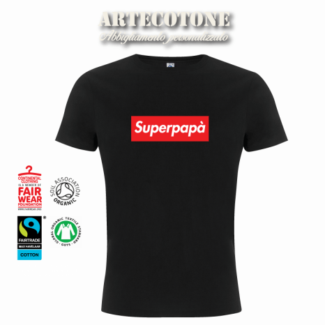 "Tshirt ""Superpapà"" stile Supreme Design by Artecotone"