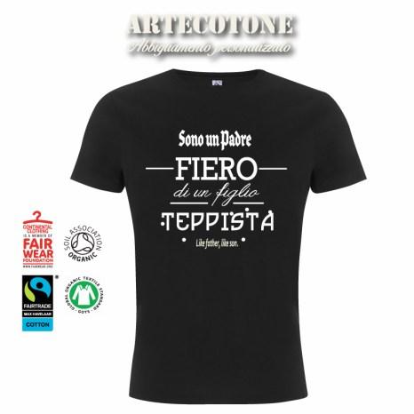 Tshirt padre fiero figlio teppista - Design by Artecotone