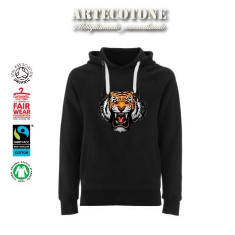 Felpa Unisex con Tigre ricamata Design by Artecotone
