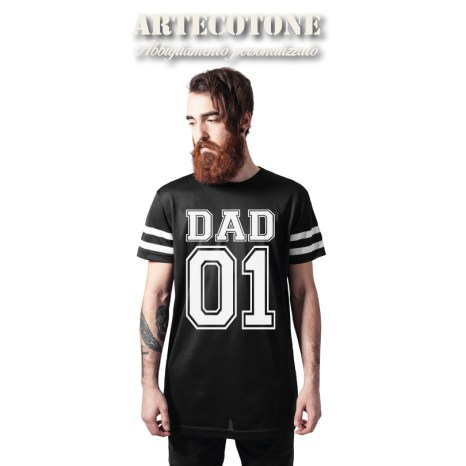 T-SHIRT DAD 01 Stripe Mesh Tee