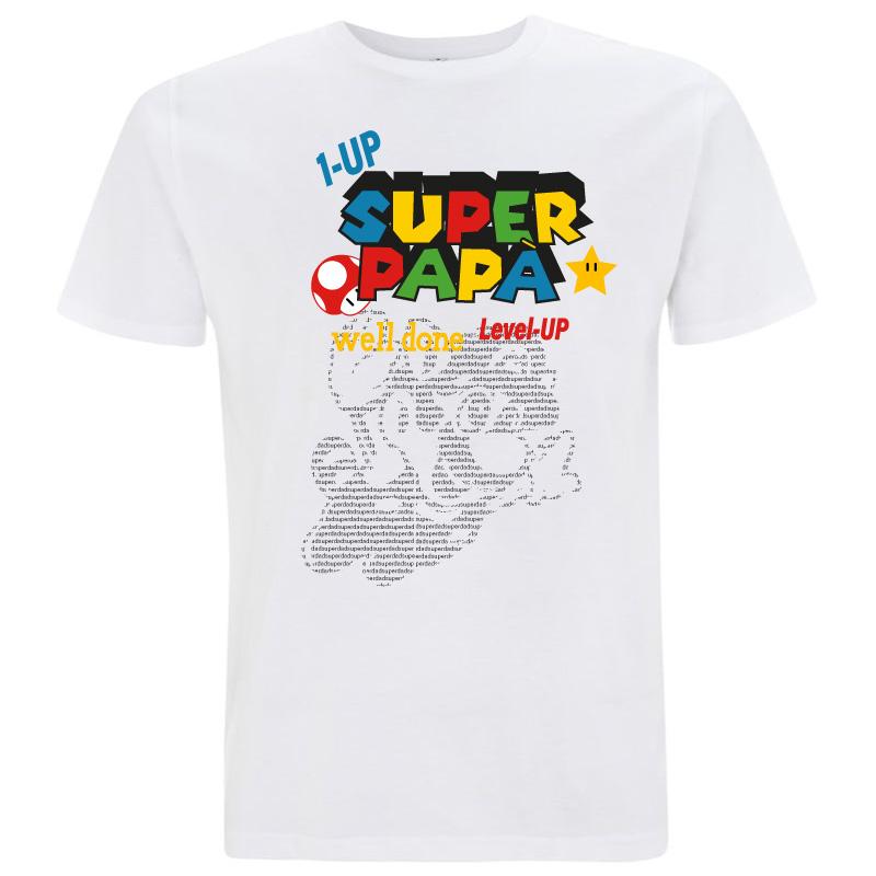 T-shirt papà super mario - cotone biologico