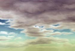 Painting a realistic landscape Part 1 : The sky