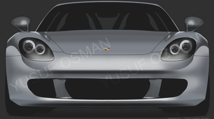 Porsche Carrera GT Digital Drawing