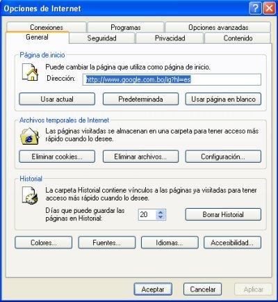 Limpiar Internet Explorer