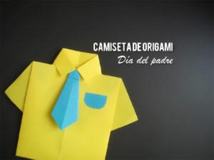 Camisa de Origami como Tarjeta de Regalo para el Día del Padre