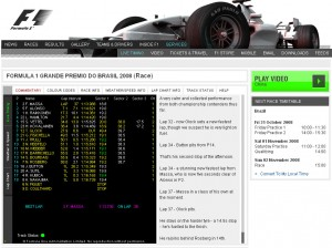 Live timing Formula1.com
