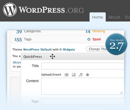 WordPress 2.7 disponible