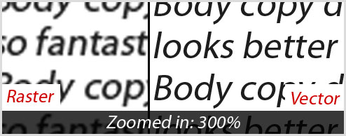 Setting body copy