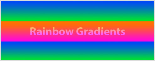 Using rainbow gradients