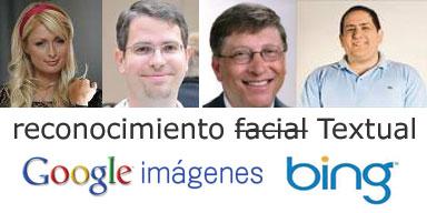 Google y Bing, reconocimiento Facial