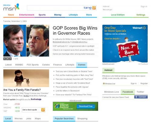 Nuevo diseño de MSN.com
