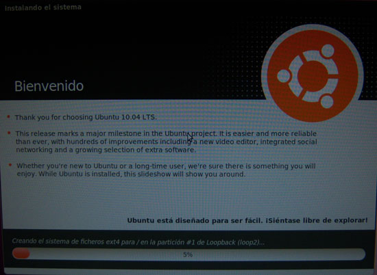 Bienvenido a Ubuntu