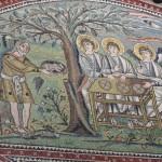 Basilica di San Vitale - storia di Abramo e Sara
