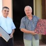 Don Elio Santini e Paolo Cuoghi contenti del lavoro fatto