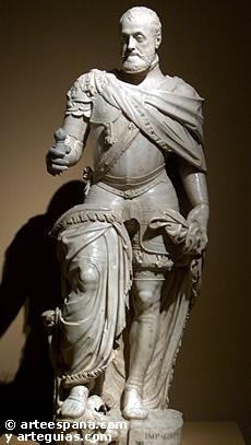 Estatua de carlos V. Leone y Pompeo Leoni