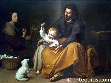 Sagrada Familia del Pajarito. Obra de Murillo (Pintura Barroca en España)