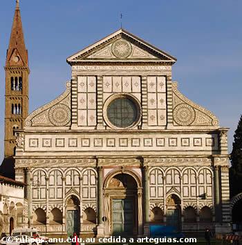 Santa María Novella de Florencia. Buen ejemplo de la arquitectura renacentista italiana