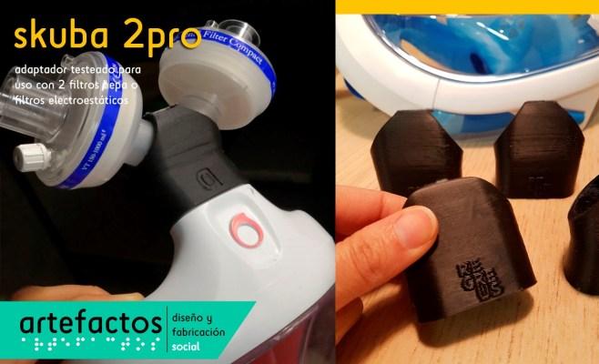 Modelo skuba 2pro para uso de filtros HEPA o electroestáticos realizado en PP