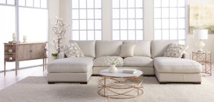 Melrose Coffee Table – Rose Gold – Setting 1