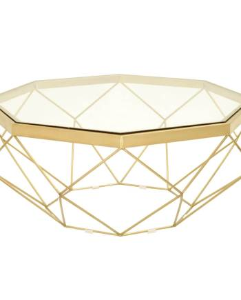 Origami Coffee Table - Brushed Gold - 1