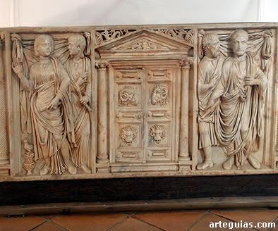 Sarcófago romano del siglo III d.C.