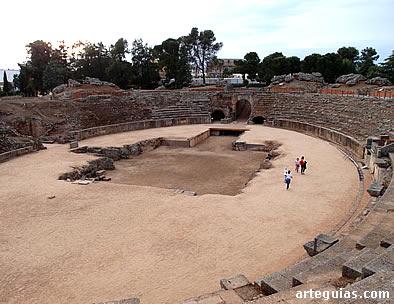 Harena del anfiteatro. Mérida