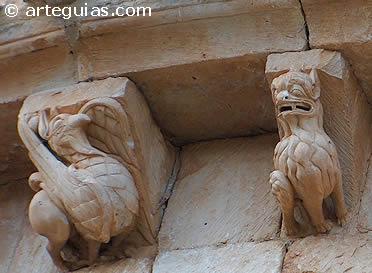 Canecillos de la iglesia de Butrera