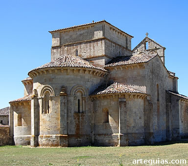 Aspecto exterior de la iglesia monástica de Santa Eufemia de Cozuelos