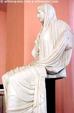 Escultura sedente romana