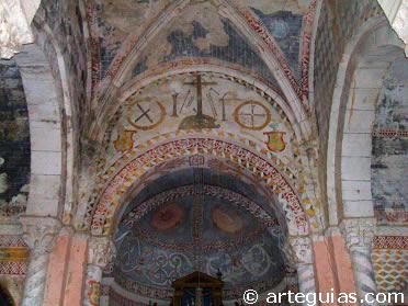 Interior de la iglesia de Tabliega. Merindades de Burgos