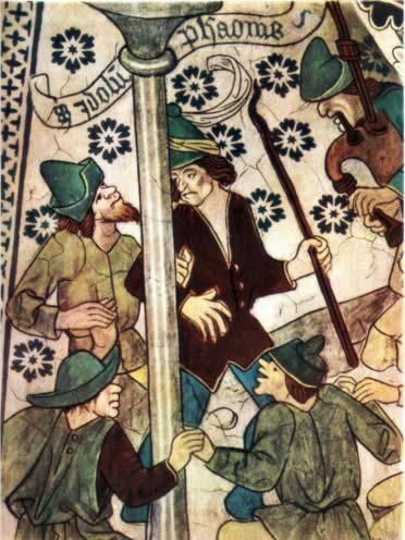 Vida cotidiana medieval: escena de danza