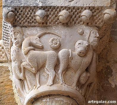 Asunción de Bárcena de Pienza: capitel del arco triunfal