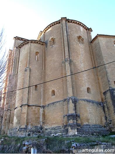Iglesia de San Salvador de Murillo de Gállego: magnífica cabecera con cripta