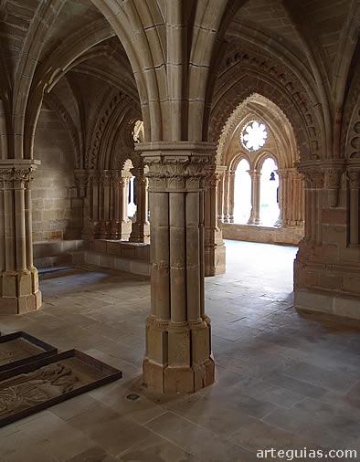 Monasterio de Rueda: interior de la sala capitular