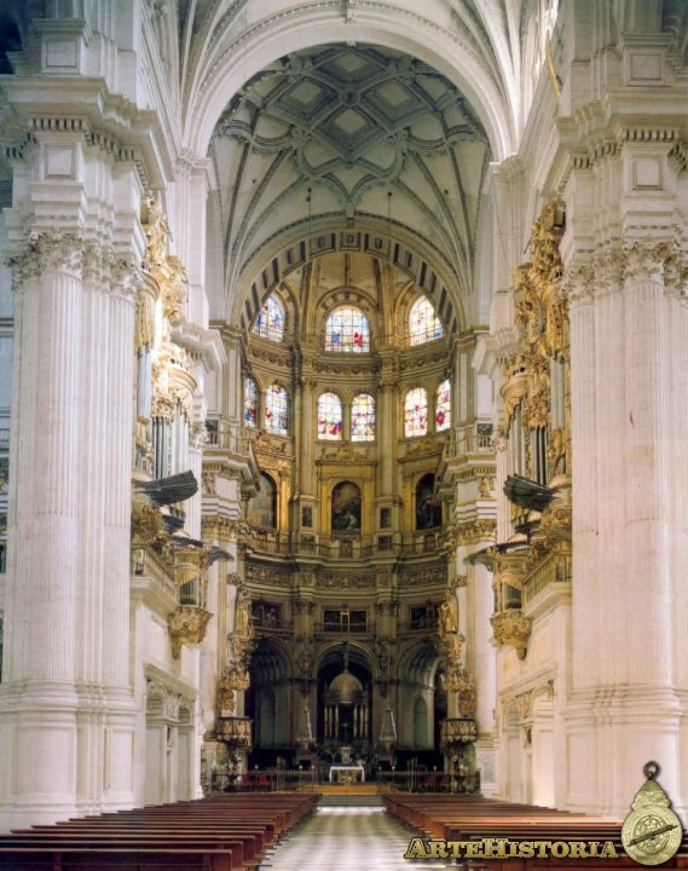 Catedral De Granada Nave Central Y Capilla Mayor