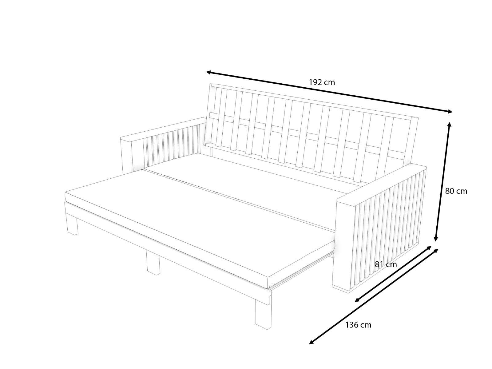 Sofa Cama De Madera De Acacia Savoy