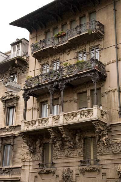 Modern Style In Italy Architecture Lombardia Milano Liberty Casa Guazzoni 1906