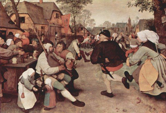 La danza campesina -  Pieter  Brueghel - artelista.com