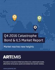 Q4 2016 Catastrophe Bond & ILS Market Report