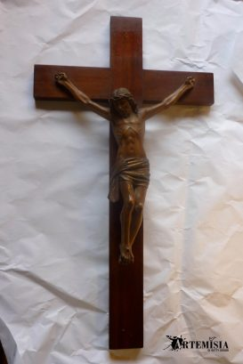 Wooden crucifix before.