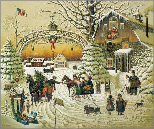 Christmas Greeting By Charles Wysocki Art Encounter