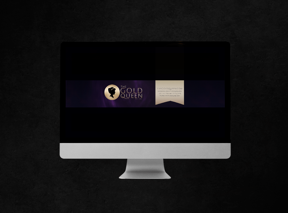 YouTube Channel Art Design – The Gold Queen
