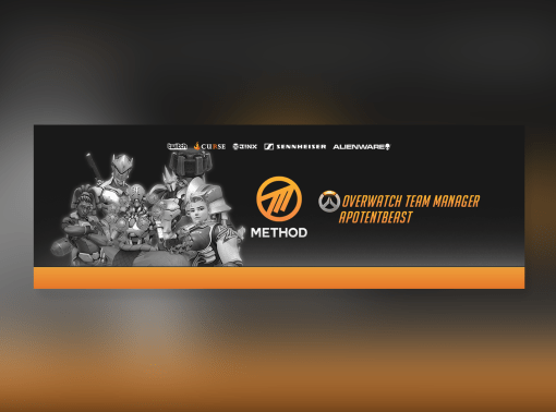 Social Media Banners for Method's new Overwatch Team