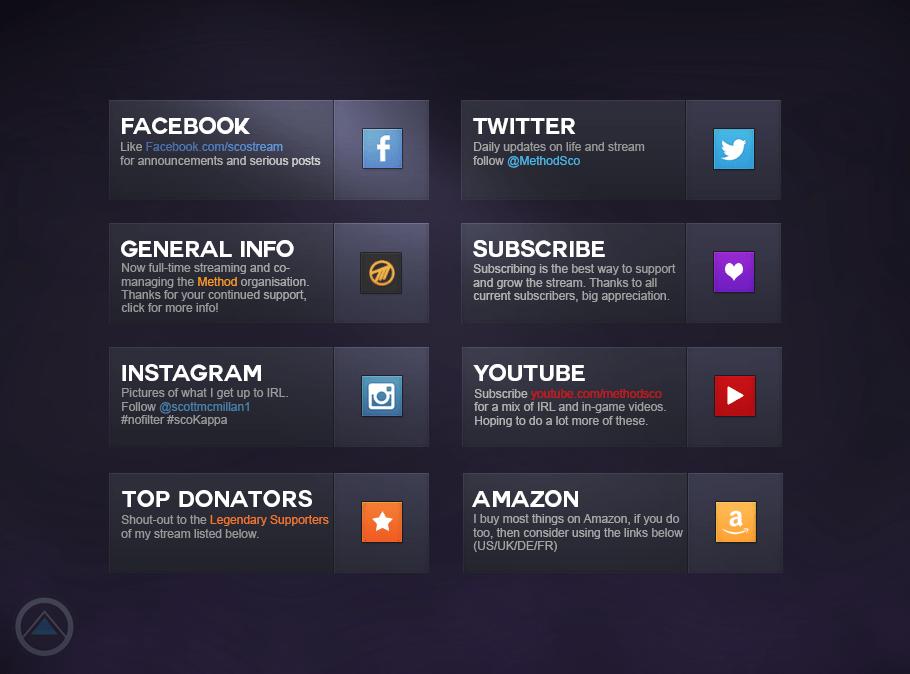 User Interface Twitch Profile Bio Sco