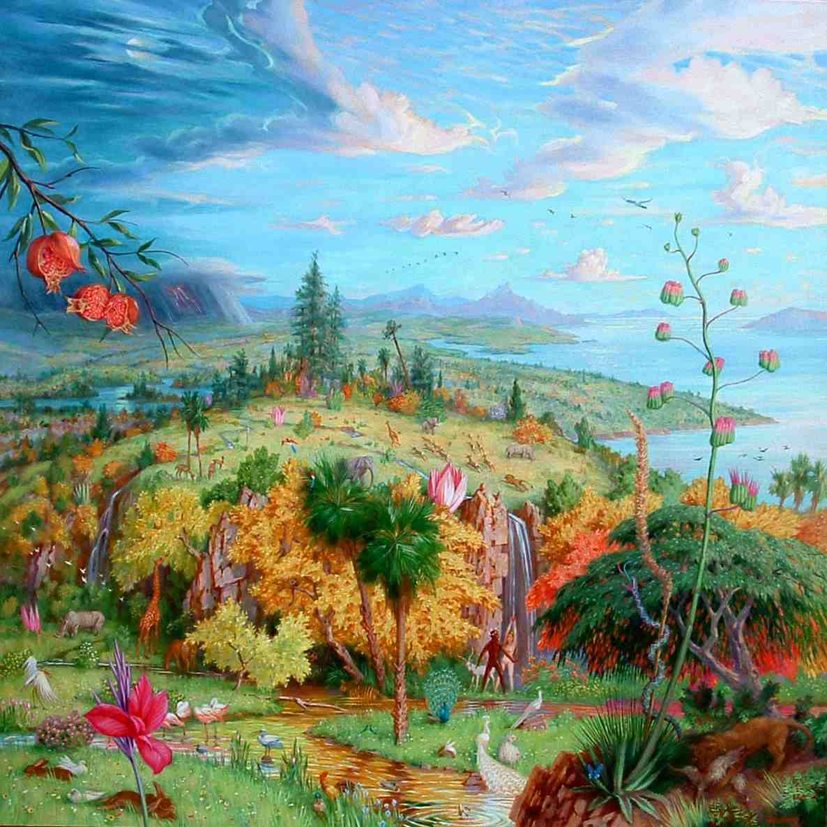 Image result for paradise in painting